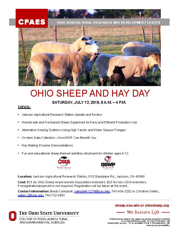OHIO SHEEP AND HAY DAY