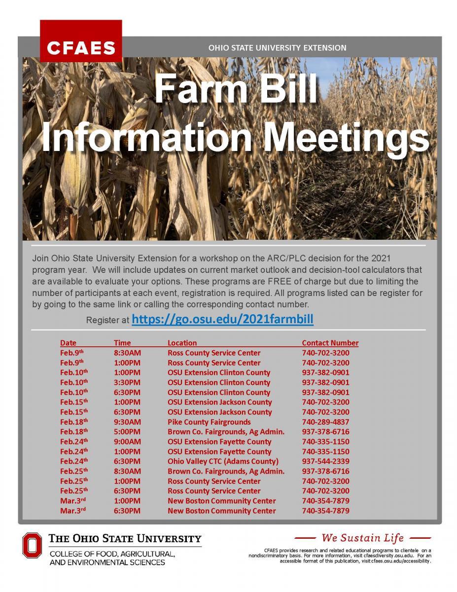 Farm Bill Flyer