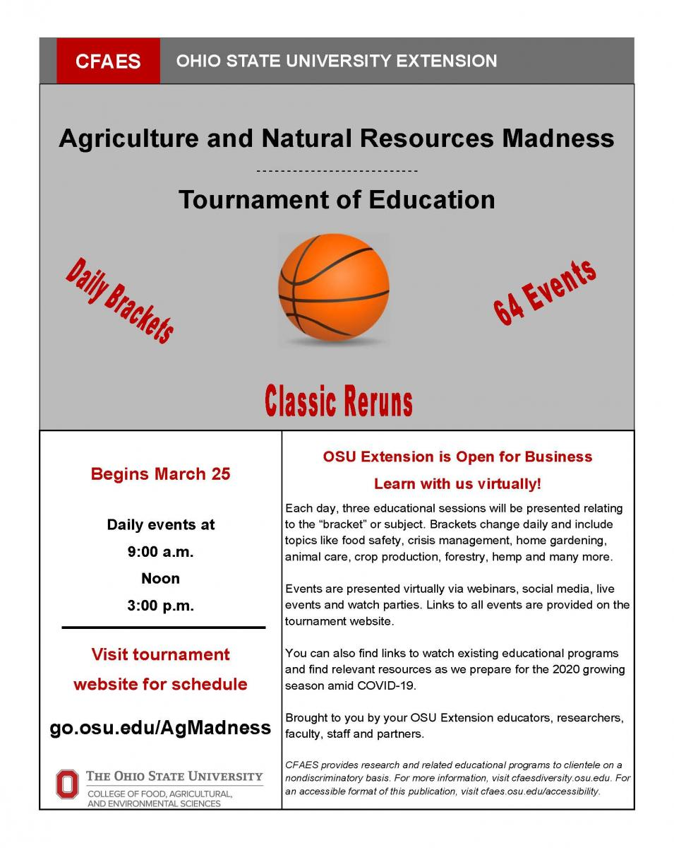Agriculture and Natural Resources Madness :Tournament of Education