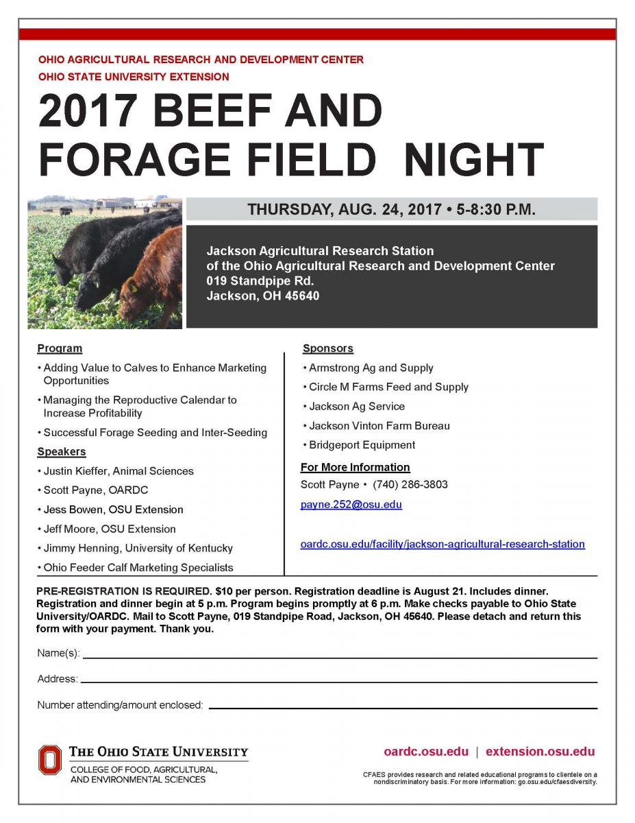 Beef and Forage Field Night